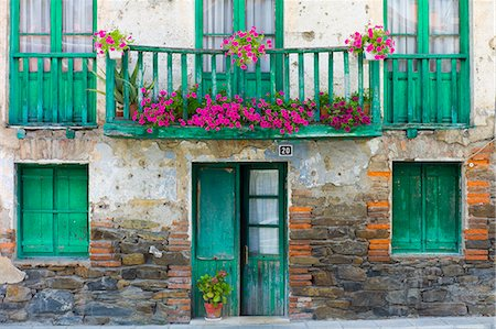 Traditional Basque architecture in the Biskaia Basque region of Northern Spain Stock Photo - Rights-Managed, Code: 841-07523727