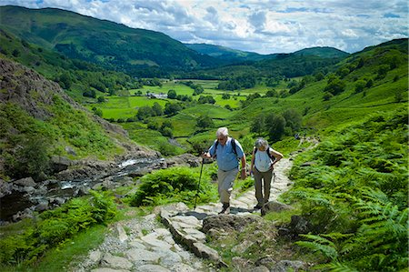 Tourists hill climbing on nature trail in lakeland countryside at Easedale in the Lake District National Park, Cumbria, UK Stock Photo - Rights-Managed, Code: 841-07540506