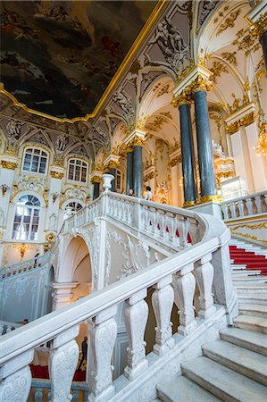 Jordan main staircase in the Hermitage (Winter Palace), UNESCO World Heritage Site, St. Petersburg, Russia, Europe Stockbilder - Lizenzpflichtiges, Bildnummer: 841-07541121