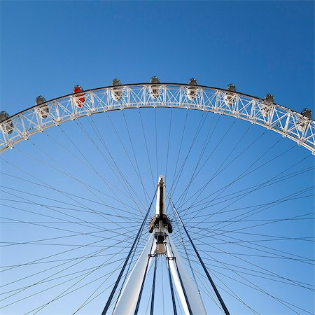 The London Eye on a bright sunny day, London, England, United Kingdom, Europe Stock Photo - Rights-Managed, Code: 841-07589771