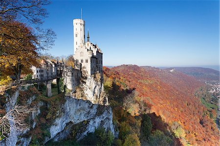 Lichtenstein Castle in autumn, Swabian Alb, Baden Wurttemberg, Germany, Europe Stock Photo - Rights-Managed, Code: 841-07589864