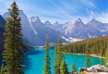Moraine Lake in the Valley of the Ten Peaks, Banff National Park, UNESCO World Heritage Site, Alberta, Canadian Rockies, Canada, North America Stock Photo - Rights-Managed, Code: 841-07590042