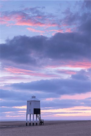 sky - Sunset beyond wooden lighthouse at Burnham-on-Sea, Somerset, England, United Kingdom, Europe Stock Photo - Rights-Managed, Code: 841-07590323