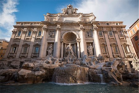 Trevi Fountain, Rome, Lazio, Italy, Europe Fotografie stock - Rights-Managed, Codice: 841-07590557