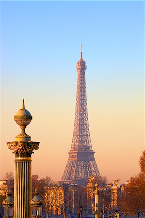 Eiffel Tower from Place de La Concorde, Paris, France, Europe Stock Photo - Rights-Managed, Code: 841-07653092