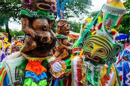 Colourful dressed participants in the Carneval (Carnival) in Santo Domingo, Dominican Republic, West Indies, Caribbean, Central America Stock Photo - Rights-Managed, Code: 841-07673462