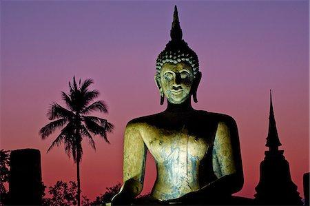 palm - Wat Mahatat, Sukhothai Historical Park, UNESCO World Heritage Site, Sukhothai, Thailand, Southeast Asia, Asia Stock Photo - Rights-Managed, Code: 841-07673524
