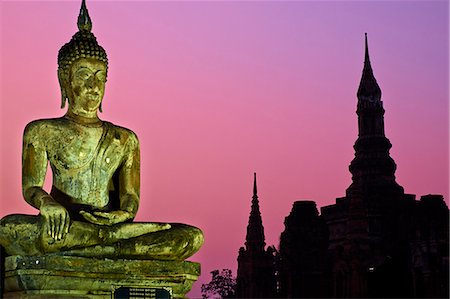 Wat Mahatat, Sukhothai Historical Park, UNESCO World Heritage Site, Sukhothai, Thailand, Southeast Asia, Asia Stock Photo - Rights-Managed, Code: 841-07673531