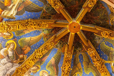 Decorated ceiling in the Metropolitan Cathedral-Basilica of the Assumption of Our Lady of Valencia (Iglesia Catedral-Basilica Metropolitana de la Asuncion de Nuestra Senora de Valencia), Valencia, Spain, Europe Stock Photo - Rights-Managed, Code: 841-07673569