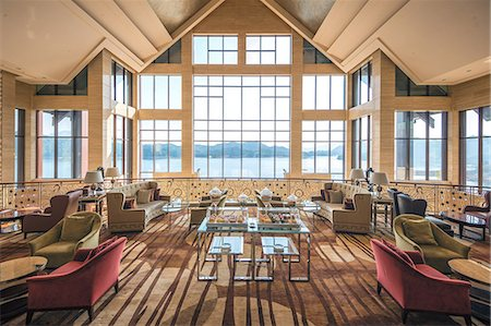 Lobby of Hilton Hangzhou Qiandao Lake Resort, Chun An, China, Asia Stock Photo - Rights-Managed, Code: 841-07782104