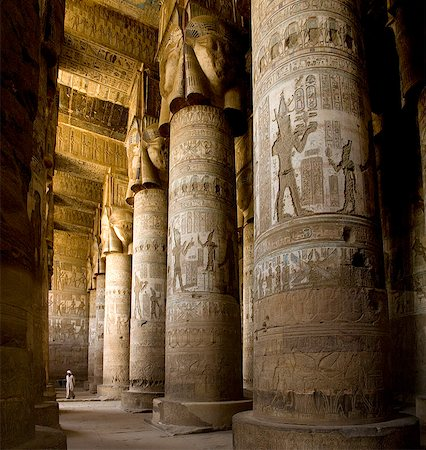 egyptian hieroglyphics - The Outer Hypostyle Hall in the Temple of Hathor, Dendera necropolis, Qena, Nile Valley, Egypt, North Africa, Africa Stock Photo - Rights-Managed, Code: 841-07782166