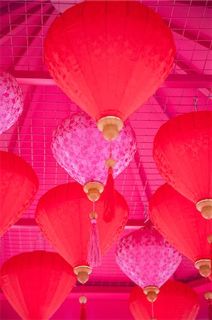 Chinese New Year lanterns, Kowloon Bay, Kowloon, Hong Kong, China, Asia Stock Photo - Rights-Managed, Code: 841-07782544