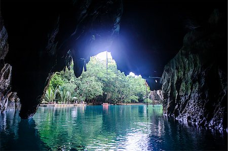 Puerto Princesa underground river, the New Wonder of the World, Puerto-Princesa Subterranean River National Park, UNESCO World Heritage Site, Palawan, Philippines, Southeast Asia, Asia Stock Photo - Rights-Managed, Code: 841-07782890