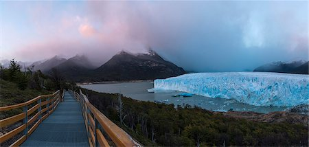 perito moreno glacier - Perito Moreno Glacier at dawn, Los Glaciares National Park, UNESCO World Heritage Site, Patagonia, Argentina, South America Stock Photo - Rights-Managed, Code: 841-07801618
