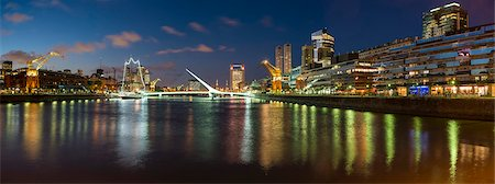 people in argentina - Puente de la Mujer (Bridge of the Woman) at dusk, Puerto Madero, Buenos Aires, Argentina, South America Stock Photo - Rights-Managed, Code: 841-07801623