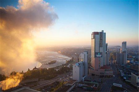 View of Hotels and Horseshoe Falls, Niagara Falls, Niagara, Ontario, Canada, North America Stock Photo - Rights-Managed, Code: 841-07913645