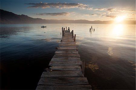 Fisherman, Lago Atitlan, Guatemala, Central America Stock Photo - Rights-Managed, Code: 841-07913834
