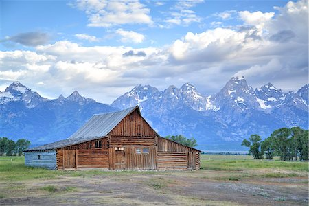 T. A. Moulton Homestead, barn, Mormon Row, Grand Teton National Park, United States of America, North America Stock Photo - Rights-Managed, Code: 841-07913904