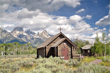 Chapel of the Transfiguration, Grand Teton National Park, Wyoming, United States of America, North America Stock Photo - Rights-Managed, Code: 841-07913910