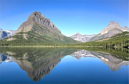 snow capped - Swiftcurrent Lake, Many Glacier Area, Glacier National Park, Montana, United States of America, North America Stock Photo - Rights-Managed, Code: 841-07913911