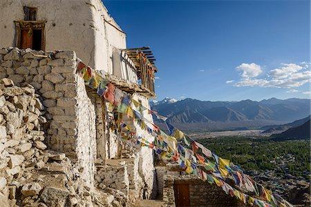 The dramatically perched Namgyal Tsemo Monastery in Leh, Ladakh, Himalayas, India, Asia Stock Photo - Rights-Managed, Code: 841-07913972