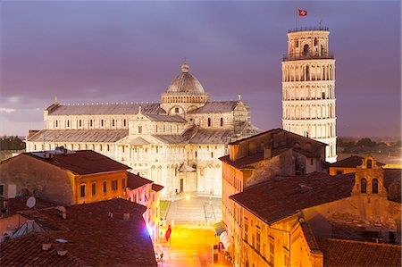 The Duomo di Pisa and the Leaning Tower, Piazza dei Miracoli, UNESCO World Heritage Site, Pisa, Tuscany, Italy, Europe Stock Photo - Rights-Managed, Code: 841-07913989