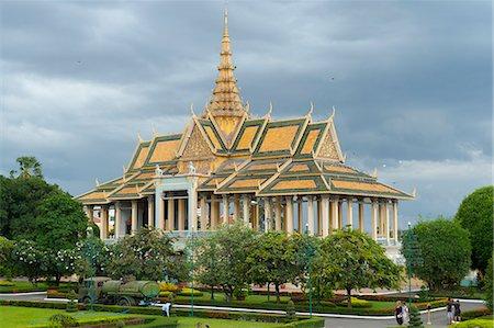 Moonlight Pavilion, Royal Palace, Phnom Penh, Cambodia, Indochina, Southeast Asia, Asia Stock Photo - Rights-Managed, Code: 841-08031600