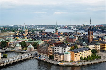 stockholm - Skyline view over Gamla Stan, Riddarholmen and Riddarfjarden, Stockholm, Sweden, Scandinavia, Europe Stock Photo - Rights-Managed, Code: 841-08059546