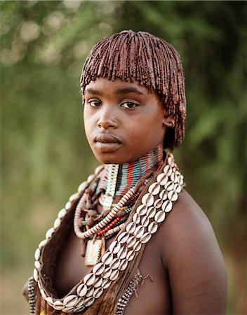 Portrait of Warka, Hamar Tribe, Omo Valley, Ethiopia, Africa Stock Photo - Rights-Managed, Code: 841-08059648