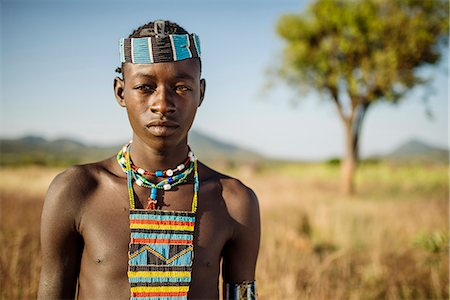 Portrait of Ari, Banna Tribe, Gargew Village, Omo Valley, Ethiopia, Africa Stock Photo - Rights-Managed, Code: 841-08059669