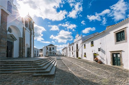 portugal - The centre of the medieval town of Monsaraz, Alentejo, Portugal, Europe Stock Photo - Rights-Managed, Code: 841-08101745