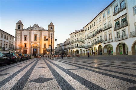 portuguese (places and things) - Giraldo Square (Praca do Giraldo) and St. Anton's church in the historic centre, with dragon's tooth paving, Evora, UNESCO World Heritage Site, Alentejo, Portugal, Europe Stock Photo - Rights-Managed, Code: 841-08101742