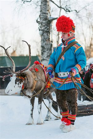 Ethnic Sami people at winter festival, Jokkmokk, Lapland, Arctic Circle, Sweden, Scandinavia, Europe Stock Photo - Rights-Managed, Code: 841-08101844