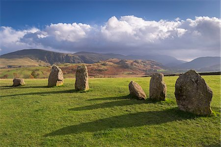 Magalithic standing stones forming part of Castlerigg Stone Circle in the Lake District National Park, Cumbria, England, United Kingdom, Europe Stock Photo - Rights-Managed, Code: 841-08102023