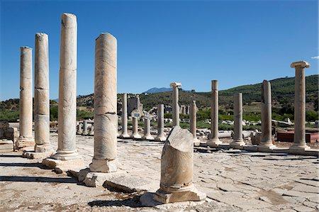Ruined colonnaded Main Street, Patara, near Kalkan, Lycia, Antalya Province, Mediterranean Coast, Southwest Turkey, Anatolia, Turkey, Asia Minor, Eurasia Stock Photo - Rights-Managed, Code: 841-08102217
