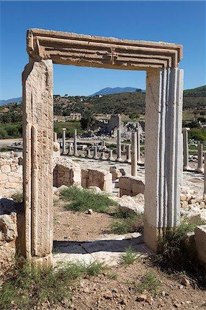 Ruined colonnaded Main Street, Patara, near Kalkan, Lycia, Antalya Province, Mediterranean Coast, Southwest Turkey, Anatolia, Turkey, Asia Minor, Eurasia Stock Photo - Rights-Managed, Code: 841-08102219