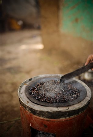 detail - Freshly roasting coffee, Omorate, Omo Valley, Ethiopia, Africa Stock Photo - Rights-Managed, Code: 841-08102274