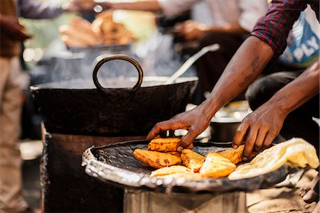 detail - Chole Bhature Stall , Sector 7, Chandigarh, Punjab and Haryana Provinces, India, Asia Stock Photo - Rights-Managed, Code: 841-08211829