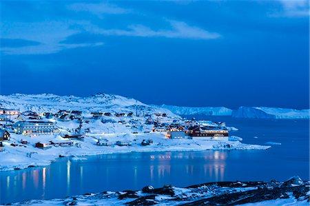small town snow - Ilulissat, Greenland, Denmark, Polar Regions Stock Photo - Rights-Managed, Code: 841-08220925