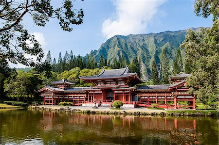 Byodo-In Temple, Valley of The Temples, Kaneohe, Oahu, Hawaii, United States of America, Pacific Stock Photo - Rights-Managed, Code: 841-08220959