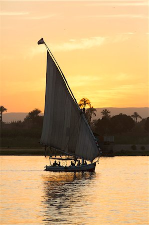 Felucca on the Nile River, Luxor, Egypt, North Africa, Africa Stock Photo - Rights-Managed, Code: 841-08220980