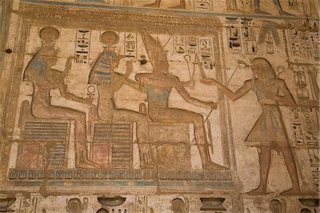 egyptian hieroglyphics - Bas-reliefs, Medinet Habu (Mortuary Temple of Ramses III), West Bank, Luxor, Thebes, UNESCO World Heritage Site, Egypt, North Africa, Africa Stock Photo - Rights-Managed, Code: 841-08221003