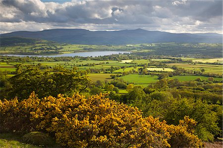quaint - View over Llangorse Lake to Pen Y Fan from Mynydd Troed, Llangorse, Brecon Beacons National Park, Powys, Wales, United Kingdom, Europe Stock Photo - Rights-Managed, Code: 841-08244300