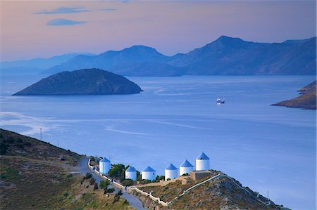 Windmills, Leros, Dodecanese, Greek Islands, Greece, Europe Stock Photo - Rights-Managed, Code: 841-08279015