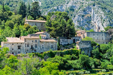 france - Medieval village of Oppede le Vieux, Vaucluse, Provence Alpes Cote d'Azur region, France, Europe Stock Photo - Rights-Managed, Code: 841-08279028