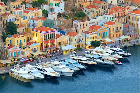Symi Harbour, Symi, Dodecanese, Greek Islands, Greece, Europe Stock Photo - Rights-Managed, Code: 841-08279021