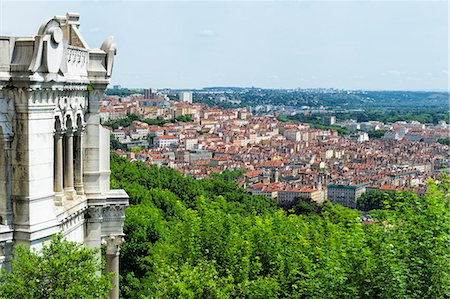 View over Lyon from the Fourviere Hill, Lyon, Rhone, France, Europe Stock Photo - Rights-Managed, Code: 841-08279034