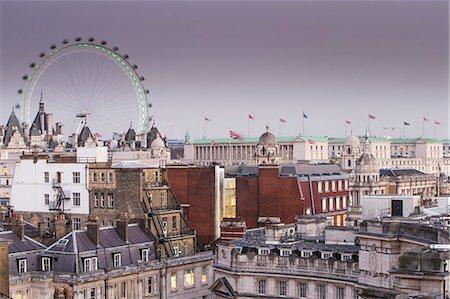 London Eye and city skyline, London, England, United Kingdom, Europe Stock Photo - Rights-Managed, Code: 841-08279222