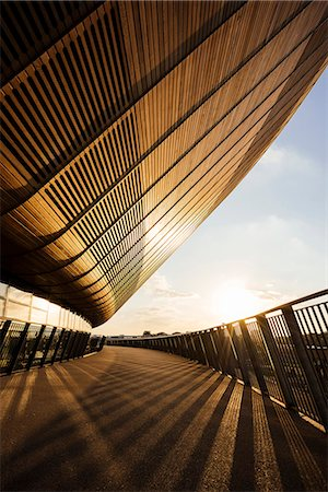 Evening light on exterior of The Velodrome, Queen Elizabeth Olympic Park, Stratford, London, England, United Kingdom, Europe Stock Photo - Rights-Managed, Code: 841-08279497