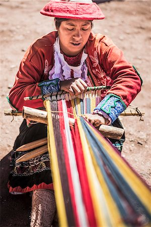 south american woman - Ccaccaccollo weaving community, Sacred Valley of the Incas, near Cusco, Peru, South America Stock Photo - Rights-Managed, Code: 841-08357220